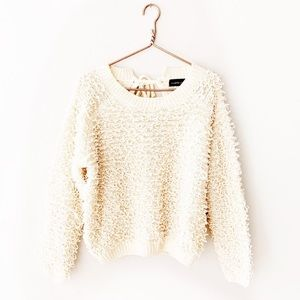 Mustard Seed Sweaters - Mustard Seed | Ivory Looped Yarn Chunky Sweater